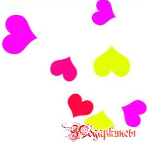 шаблоны в виде сердечек