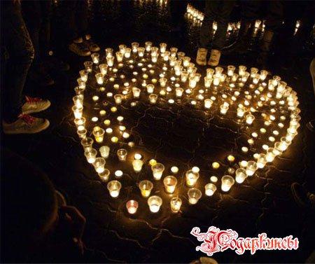 сердечки из свечей