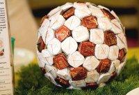 конфетный футбольный мяч