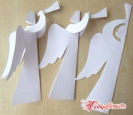 Ангелочки из бумаги - создаем атмосферу рождества