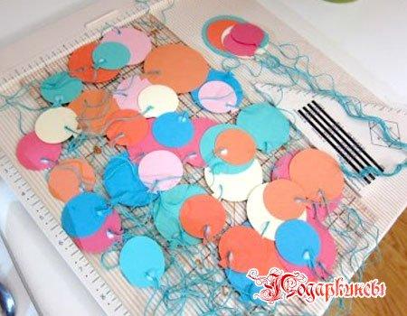 разноцветные шарики для открытки