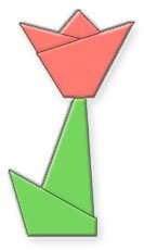 легкий оригами цветок тюльпана