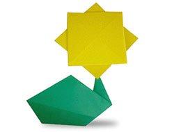 простой цветок оригами