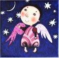 """рисунок на подставке """"ангелочек"""""""