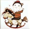 рисунок на подставке мальчик на лошадке