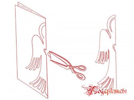 схема создания первого ангелочка - разметка и обрезка