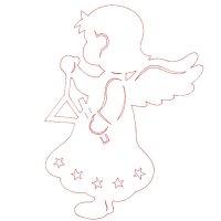 """девочка ангелочек играющая на треугольнике """"Triangel"""""""