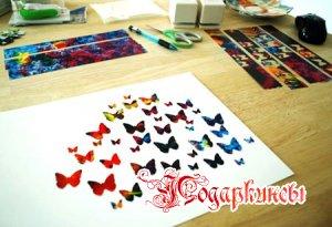 вырезаем бабочек из бумаги