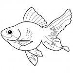 трафарет рыбки с волнистым хвостом