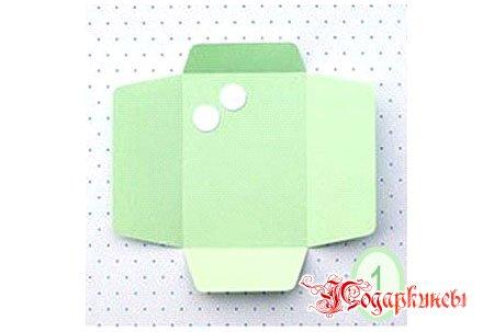 пуговки и схема разреза бумаги