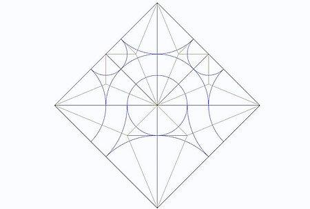 Вторая схема шаблона кленового листа