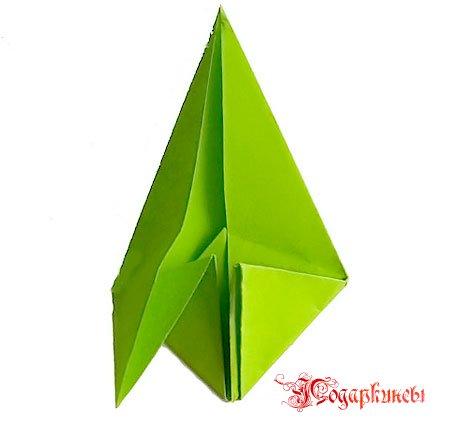Углы оригами к верху