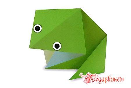 легкая лягушка оригами