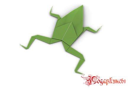 классическая лягушка оригами