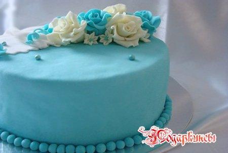 Тортик в голубом