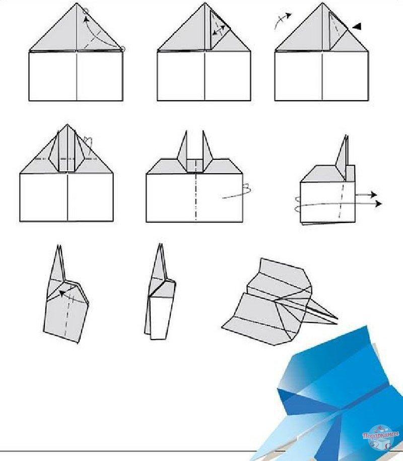 Крутой самолет из бумаги