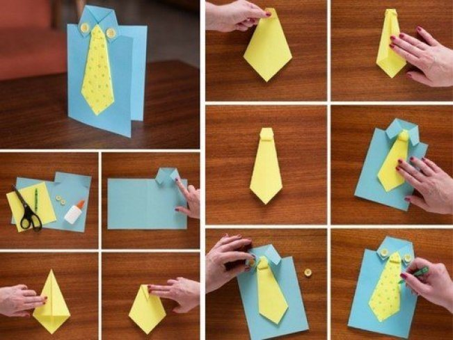 Как сделать подарок на день рождения своими руками папе открытку